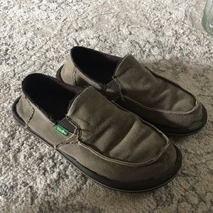 Other - Green Boys Sanuk loafers